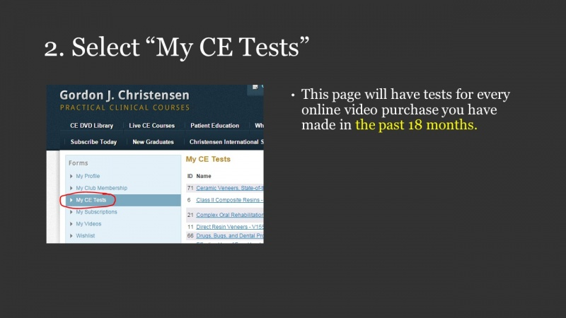 How to get your CE credit online