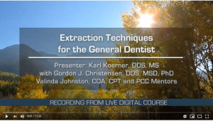 Extraction Techniques for the General Dentist - X4111